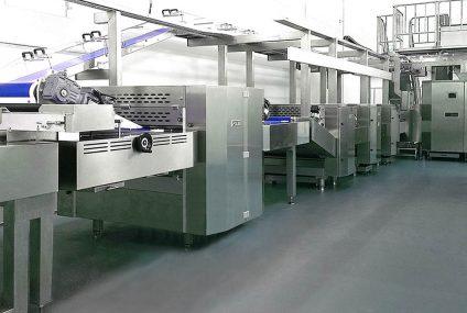 مصنع إنتاج البسكويت : الأغطية والفرن والتبريد
